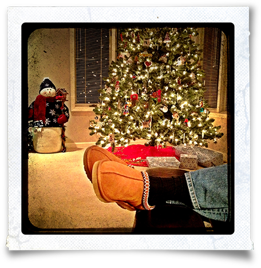 Those Are My Husbandu0027s Slippered Feet, Relaxing As He Sits Back And Admires  The Christmas Tree. We Put It Up Last Weekend. Mrs. Scrooge (that Would Be  Moi) ...